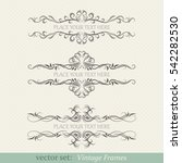 vector set of vintage frames | Shutterstock .eps vector #542282530