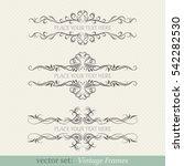 vector set of vintage frames | Shutterstock .eps vector #542282530