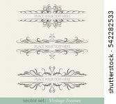 vector set of vintage frames | Shutterstock .eps vector #542282533