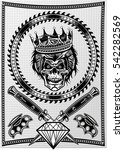 skull dagger knife  | Shutterstock .eps vector #542282569