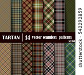 set tartan seamless pattern.... | Shutterstock .eps vector #542292859