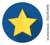 gold star long shadow flat icon.