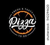 pizza hand written lettering... | Shutterstock .eps vector #542294620
