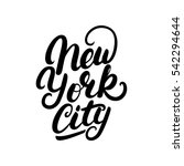 new york city hand written... | Shutterstock .eps vector #542294644