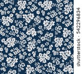 seamless floral pattern in... | Shutterstock .eps vector #542296834