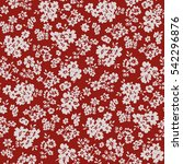 seamless floral pattern in... | Shutterstock .eps vector #542296876