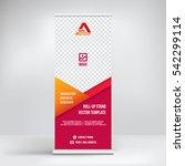 banner roll up design  business ... | Shutterstock .eps vector #542299114