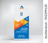 banner roll up design  business ... | Shutterstock .eps vector #542299120