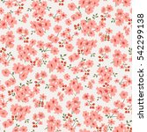 seamless floral pattern in...   Shutterstock .eps vector #542299138