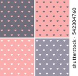 a set of textures in hearts... | Shutterstock .eps vector #542304760
