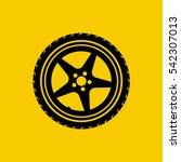 Car Wheel Icon Isolated On...