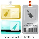 glue bottle. vector id cards.   Shutterstock .eps vector #54230749