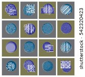 abstract graphic arts set ... | Shutterstock . vector #542320423