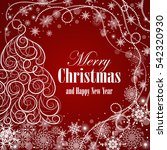 christmas and new year greeting ... | Shutterstock .eps vector #542320930