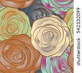 vector seamless floral pattern... | Shutterstock .eps vector #542332099