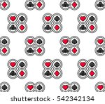 suit of playing cards. flat...   Shutterstock .eps vector #542342134