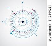 technical plan  blue abstract... | Shutterstock . vector #542344294