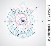 technical plan  blue abstract... | Shutterstock . vector #542344348
