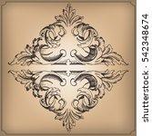 vintage baroque ornament. | Shutterstock .eps vector #542348674