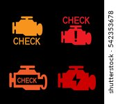 engine check icon. car control... | Shutterstock .eps vector #542353678