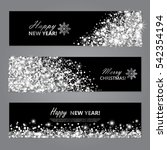 happy new year and merry... | Shutterstock .eps vector #542354194
