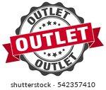 outlet. stamp. sticker. seal.... | Shutterstock .eps vector #542357410