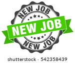 new job. stamp. sticker. seal.... | Shutterstock .eps vector #542358439