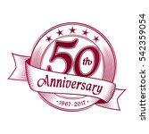 50th anniversary design... | Shutterstock .eps vector #542359054