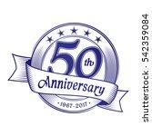 50th anniversary design... | Shutterstock .eps vector #542359084