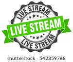 live stream. stamp. sticker.... | Shutterstock .eps vector #542359768