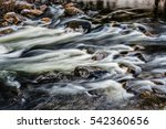Rapidly Moving Water Over Rocks ...
