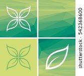 vector abstract leaf logo shape ... | Shutterstock .eps vector #542368600