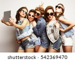 lifestyle and people concept ... | Shutterstock . vector #542369470