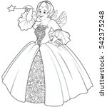 fairy godmother making a wish... | Shutterstock .eps vector #542375248