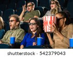 scary movie. group of... | Shutterstock . vector #542379043