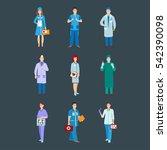 doctor  nurse character vector. ... | Shutterstock .eps vector #542390098
