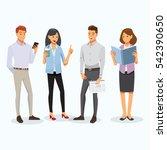 business men and women... | Shutterstock .eps vector #542390650