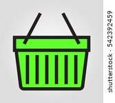 basket shopping icon in trendy...
