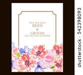 vintage delicate invitation... | Shutterstock . vector #542398093