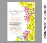 romantic invitation. wedding ... | Shutterstock . vector #542400604
