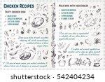 sketch food icons 4 design... | Shutterstock .eps vector #542404234