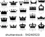 illustration with crown... | Shutterstock .eps vector #54240523