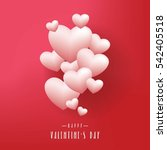 realistic white romantic... | Shutterstock .eps vector #542405518