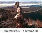 wings of aviator   3d rendering | Shutterstock . vector #542406520
