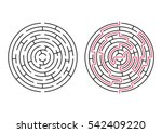 vector labyrinth. maze  ... | Shutterstock .eps vector #542409220