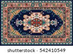 colorful oriental mosaic rug... | Shutterstock .eps vector #542410549