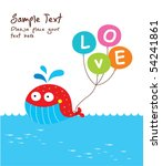 love whale doodle | Shutterstock .eps vector #54241861