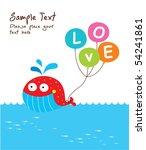 love whale doodle   Shutterstock .eps vector #54241861