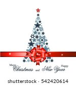 christmas tree from beautiful... | Shutterstock .eps vector #542420614