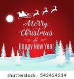 vector illustration of santa... | Shutterstock .eps vector #542424214